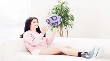 นักบอลหญิงสุดสวย
